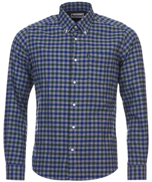 Barbour Moss Check Shirt Tailored Fit - Green Check