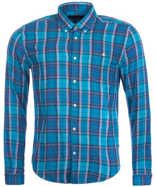 Men's Barbour Heritage Leith Shirt - Aqua Check