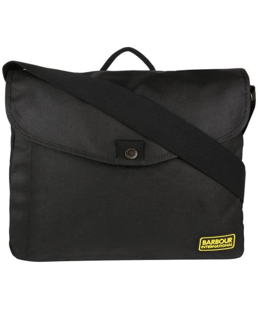 Gabion Messenger Bag - Black / Blue