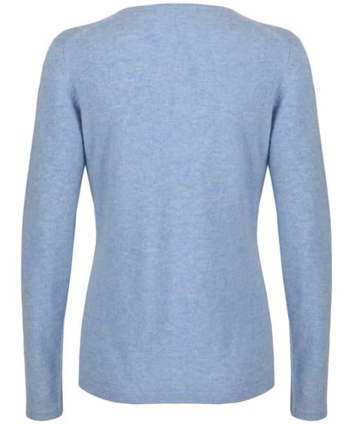 Women's Alan Paine Inset Sleeve V-neck Sweater - Glacier