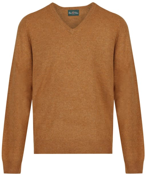 Men's Alan Paine Burford V-neck Pullover Sweater - Gazelle