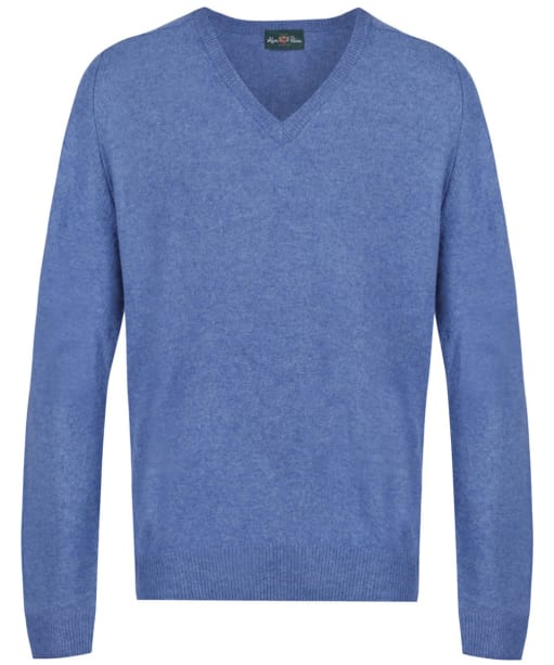 Men's Alan Paine Burford V-neck Pullover Sweater - Mariner Blue