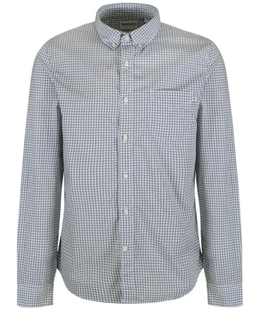Men's Timberland Suncook River Stretch Poplin Check Shirt - Ashley Blue