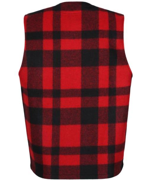 Men's Filson Mackinaw Wool Vest - Red / Black Plaid