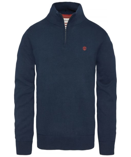 Men's Timberland Williams River Half Zip Sweater - Dark Navy