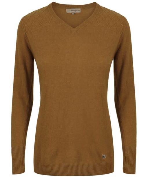 Women's Dubarry Blackwater V-Neck Sweater - Mustard
