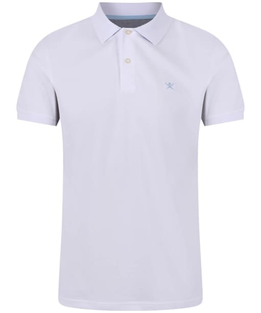 Men's Hackett Tailored Logo Polo Shirt - White / Blue