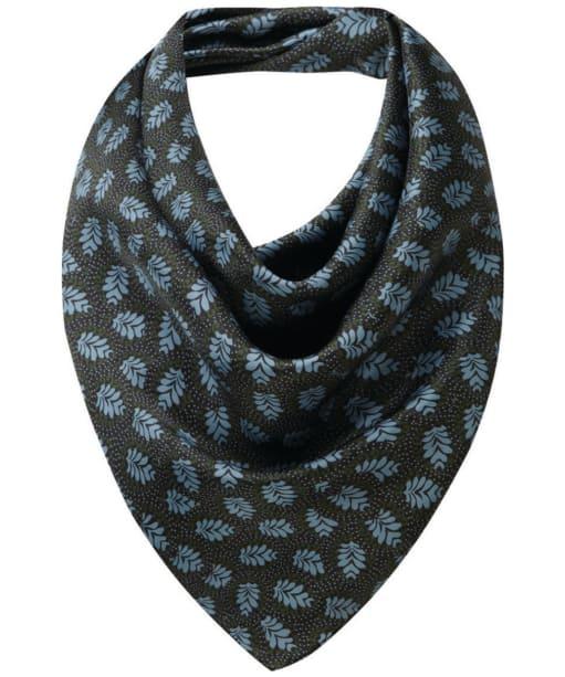 Women's Schöffel Silk Scarf - Dark Olive / Blue