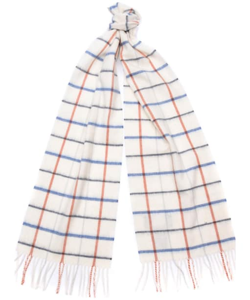 Women's Barbour Country Tattersall Scarf - Arctic Plaid