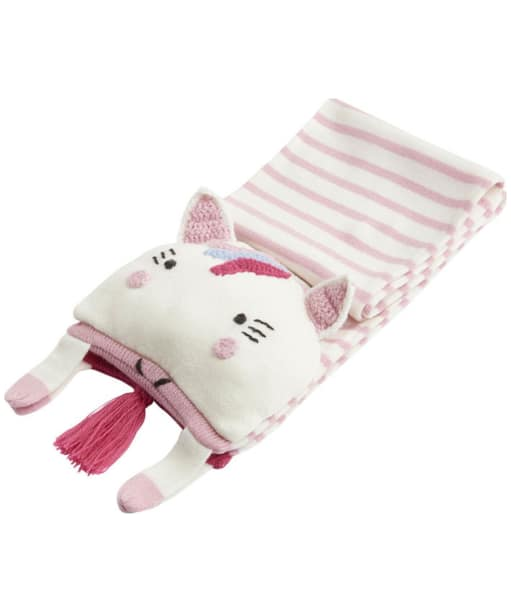 Girl's Joules Chum Character Scarf - Glitter Unicorn