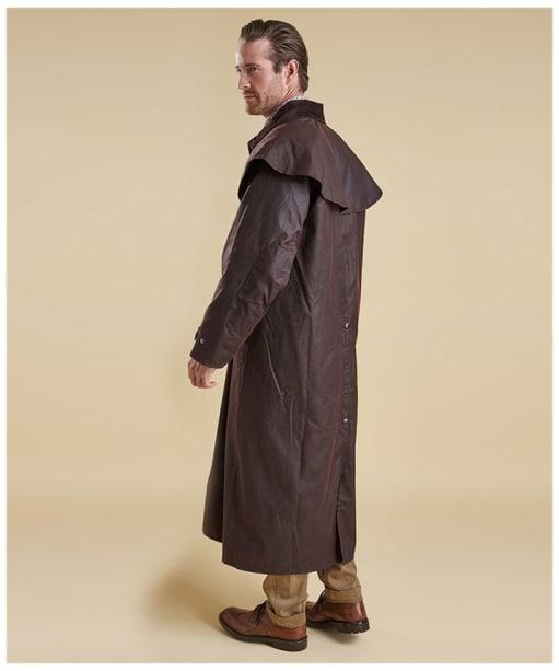 Men's Barbour Stockman Waxed Coat - Brown