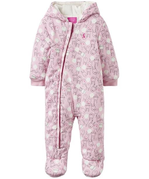 Girl's Joules Baby Snug Pram Suit, 9-12m - Rose Pink Bunny