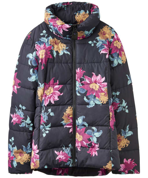 Women's Joules Florian Padded Jacket - Black Clematis