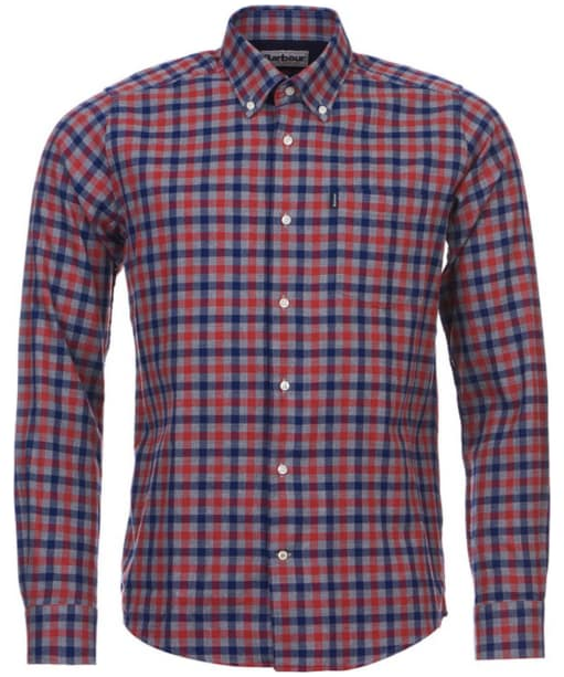 Barbour Moss Check Shirt Tailored Fit - Burnt Orange Check