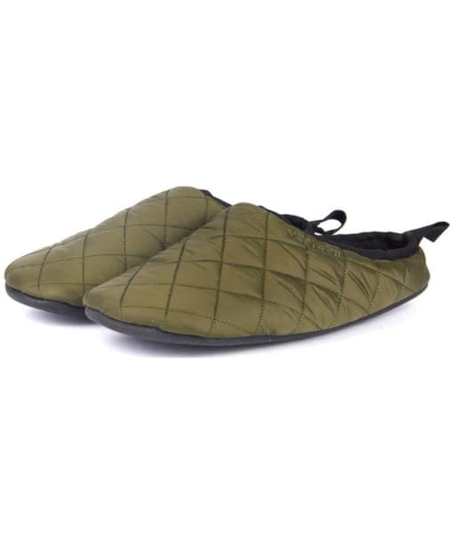 Men's Barbour Gurthie Quilted Slippers - Olive