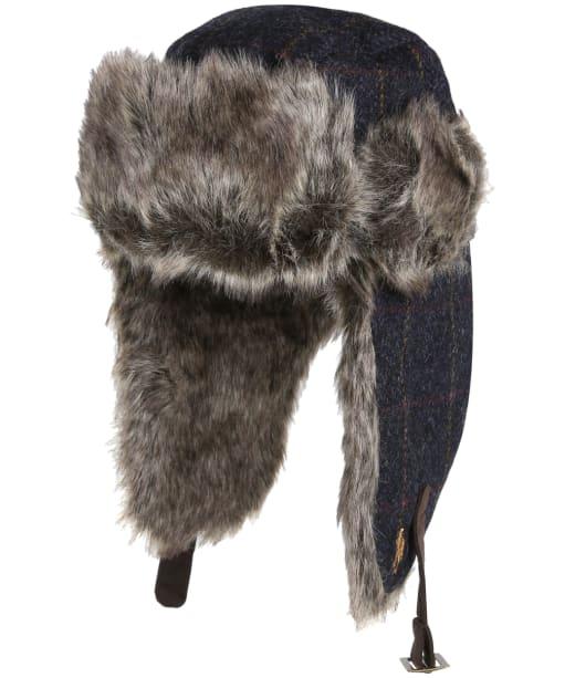 Jack Murphy Crisp Tweed Trapper Hat - Golden Navy