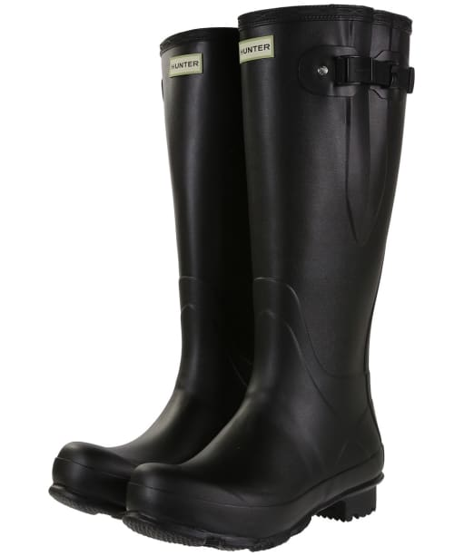 Men's Hunter Norris Field Adjustable Wellingtons - Black