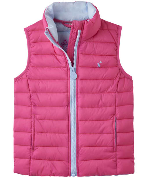 Girl's Joules Croft Packaway Gilet, 2-5yrs - Parisian Pink