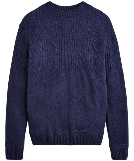 Men's Joules Shipton Cable Knit Jumper - French Navy Marl