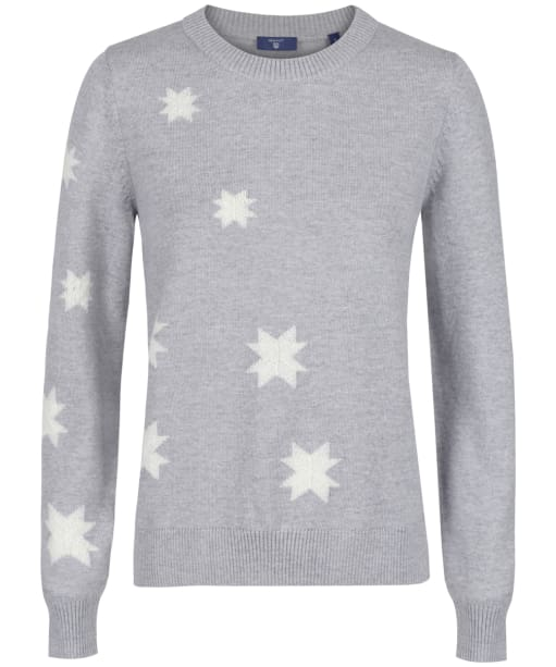 Women's GANT Winterstar Sweater - Light Grey Melange