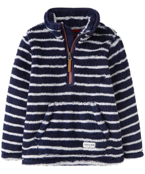 Boy's Joules Woozle Half Zip Fleece, 2-5yrs - Navy Stripe