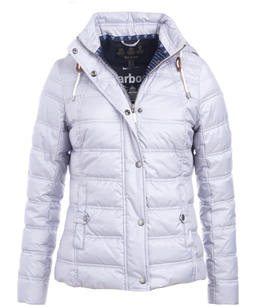 Women's Barbour Inscar Quilted Jacket - Ice White