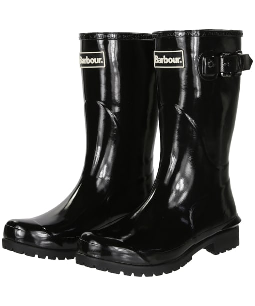 Women's Barbour Primrose Wellington Boots - Black