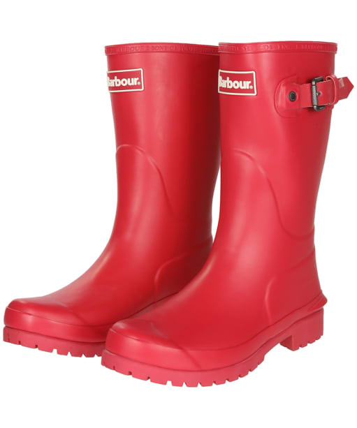 Women's Barbour Primrose Wellington Boots - Raspberry