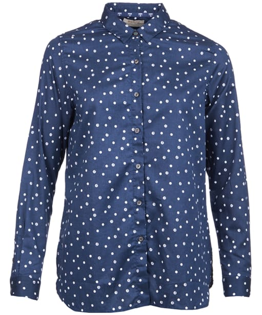 Faeroe Printed Shirt - Navy / White Beacon