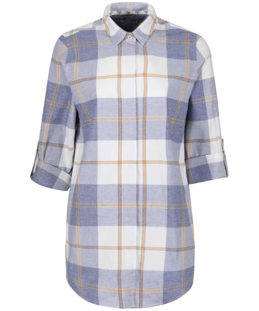 Wester Check Shirt - Blue Marl Check