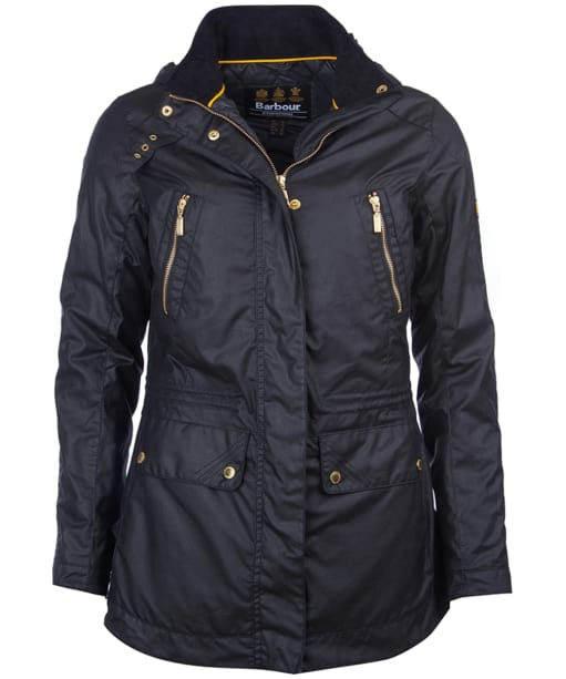 Women's Barbour International Ridge Wax Jacket - Black