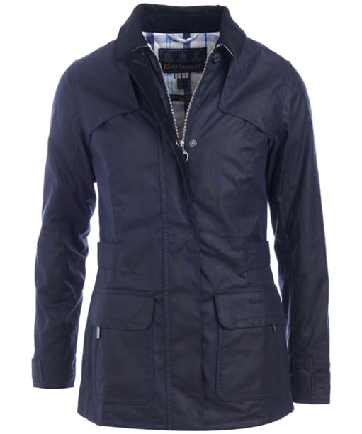 Women's Barbour Shield Wax Jacket - Royal Navy