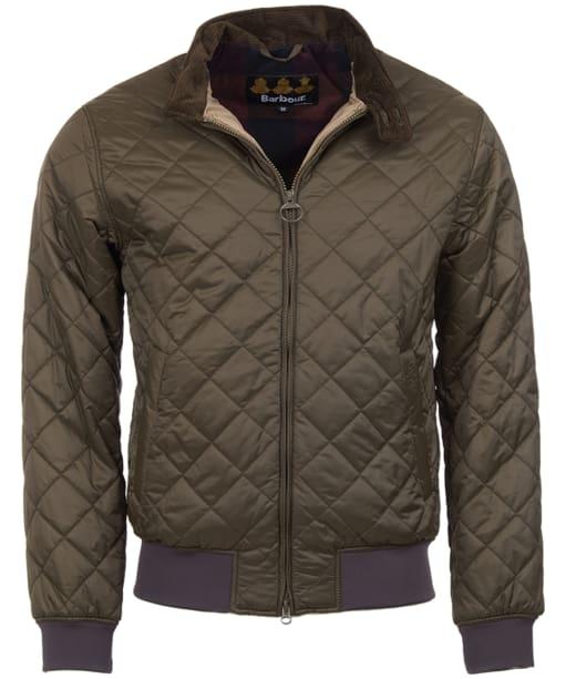 Men's Barbour Romer Quilted Jacket - Olive