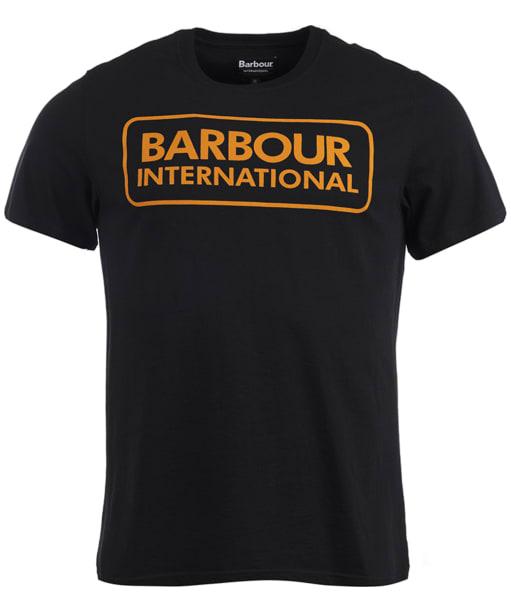 Men's Barbour International Essential Large Logo Tee - Black