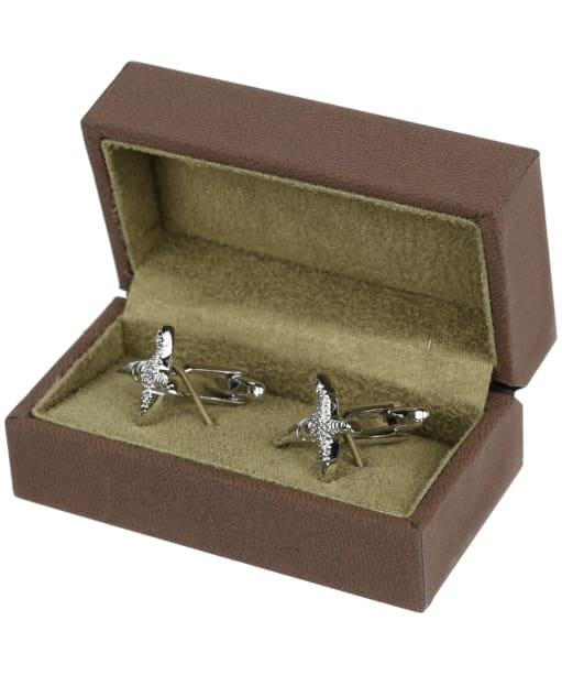 Soprano Pheasant Silver Cufflinks - Silver