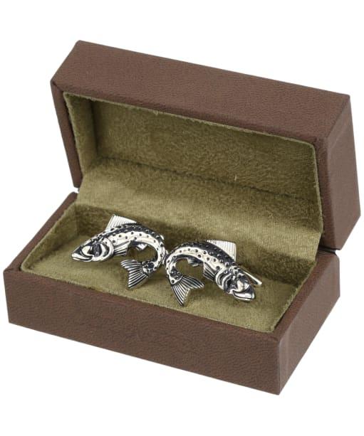 Soprano Trout Silver Cufflinks - Silver