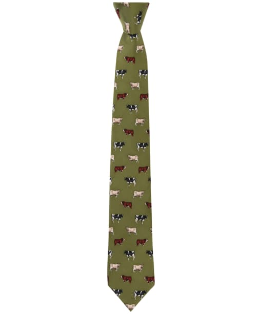 Men's Soprano Cow Breeds Tie - Green