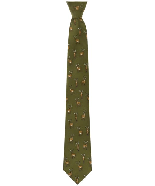 Men's Soprano Standing Stag Tie - Country Green