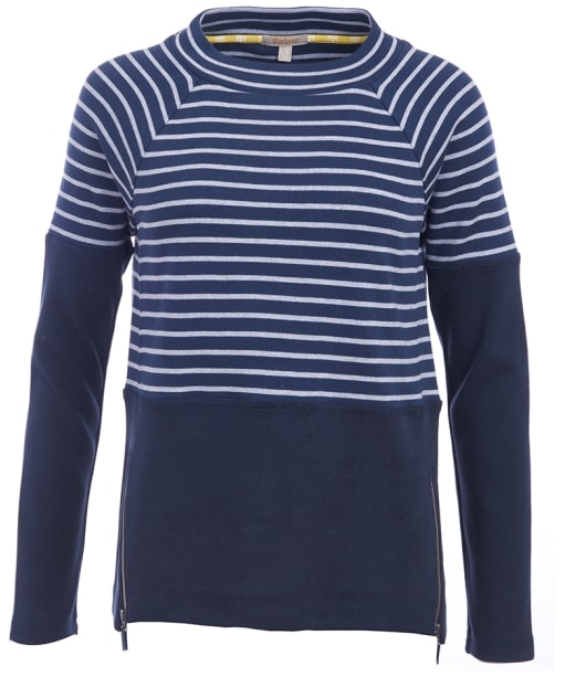 Women's Barbour Seaburn Sweater - Navy / Grey