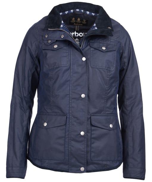 Women's Barbour Faeroe Wax Jacket - Royal Navy