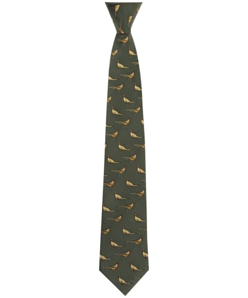 Men's Soprano Standing Pheasants Tie - Green
