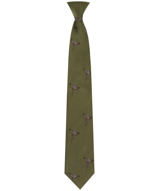 Men's Soprano Flying Pheasant Print Tie - Country Green