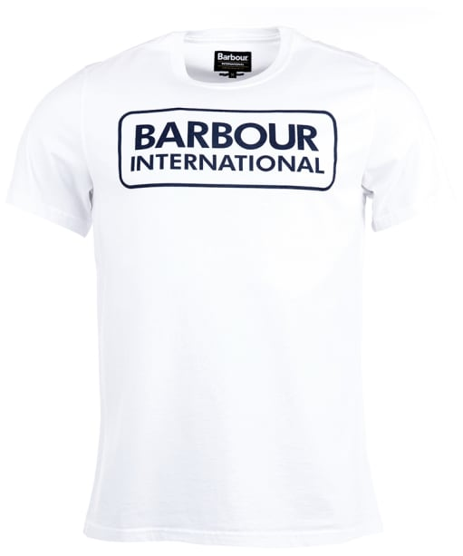 Men's Barbour International Essential Large Logo Tee - White