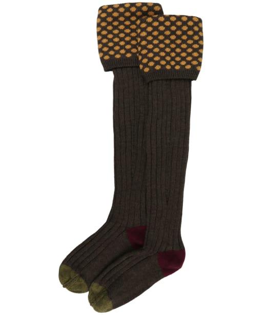 Pennine Viceroy Shooting Socks - Mocha