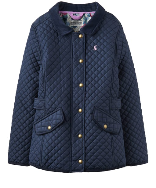 Girl's Joules Infant Newdale Quilted Jacket, 6yrs - French Navy