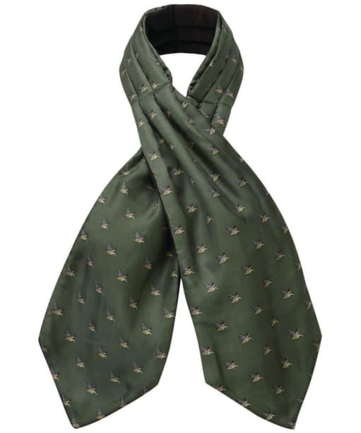Men's Schöffel Silk Shooting Cravat - Dark Olive