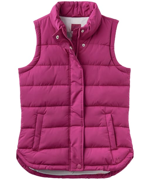 Women's Joules Eastleigh Padded Gilet - Ruby