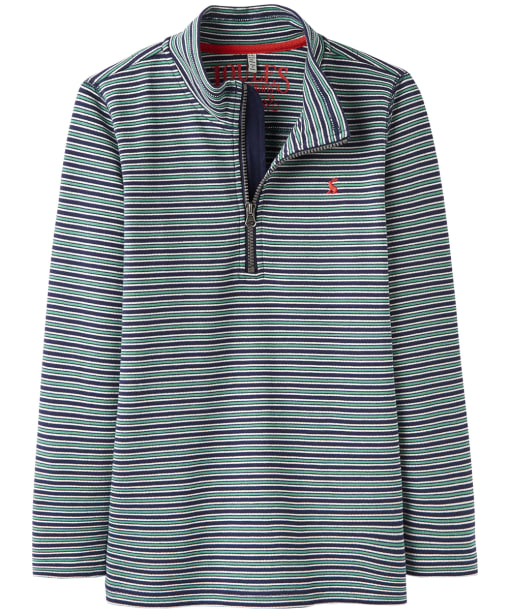 Boy's Joules Infant Dale Half Zip Sweatshirt, 6yrs - French Navy Stripe