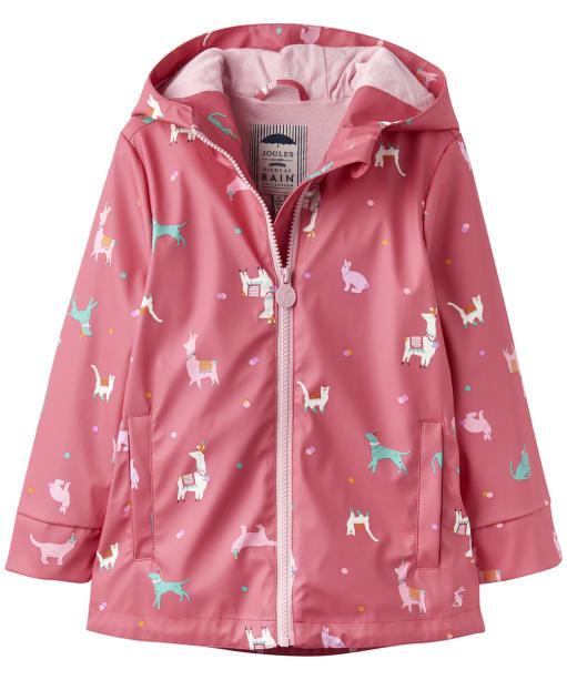 Girl's Joules Infant Raindance Rubber Coat, 2-5yrs - BRT PINK FESFRI