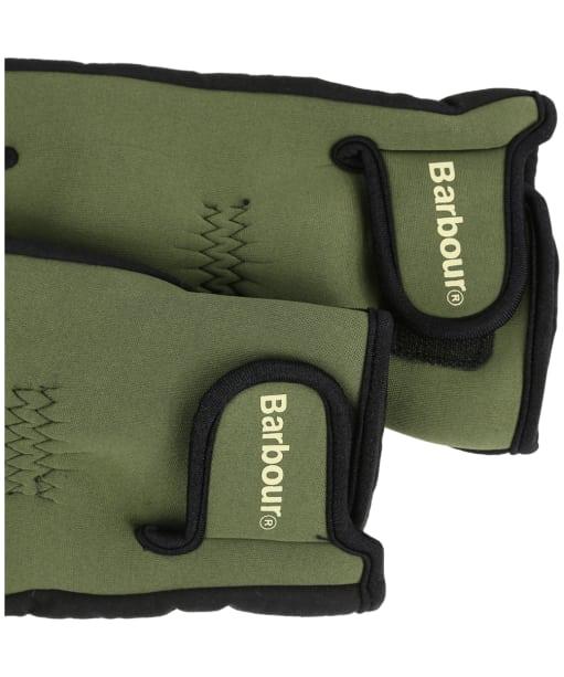 Men's Barbour Neoprene Gloves - Green
